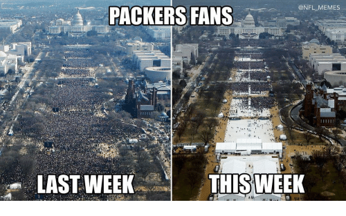 Packer Fans: PACKERS FANS  @NFL MEMES  THIS WEEK  LAST WEEK