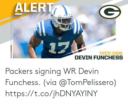 Signing: Packers signing WR Devin Funchess. (via @TomPelissero) https://t.co/jhDNYAYINY