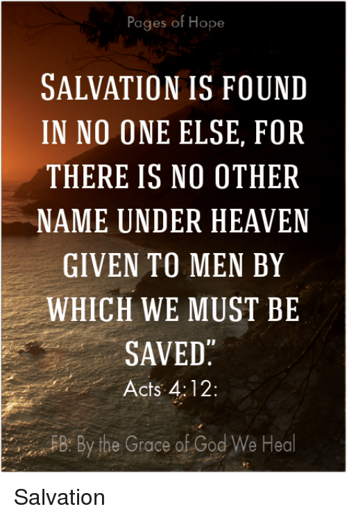 hope and salvation