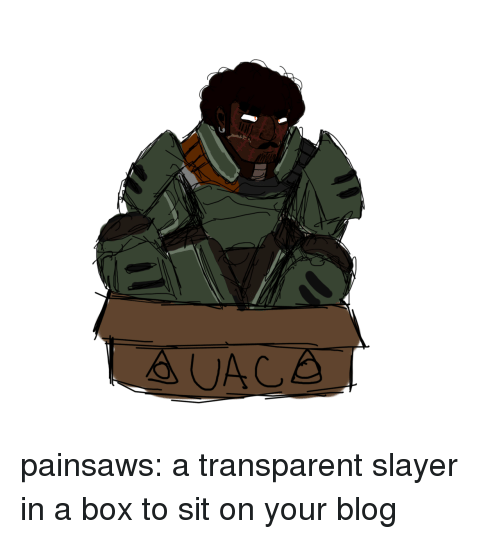 Slayer: painsaws:  a transparent slayer in a box to sit on your blog