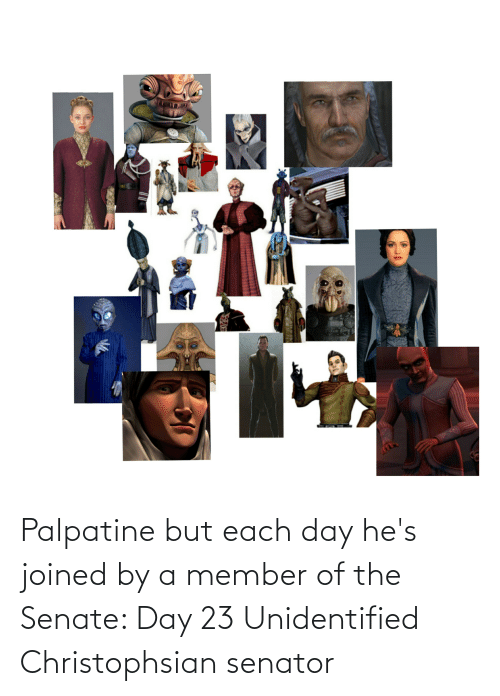 Star Wars: Palpatine but each day he's joined by a member of the Senate: Day 23 Unidentified Christophsian senator