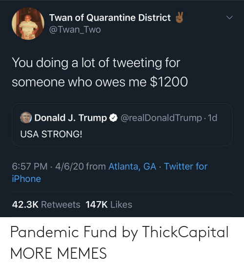 pandemic: Pandemic Fund by ThickCapital MORE MEMES