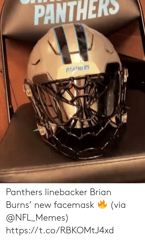 brian: PANTHERS  PANINERS Panthers linebacker Brian Burns' new facemask 🔥 (via @NFL_Memes) https://t.co/RBKOMtJ4xd