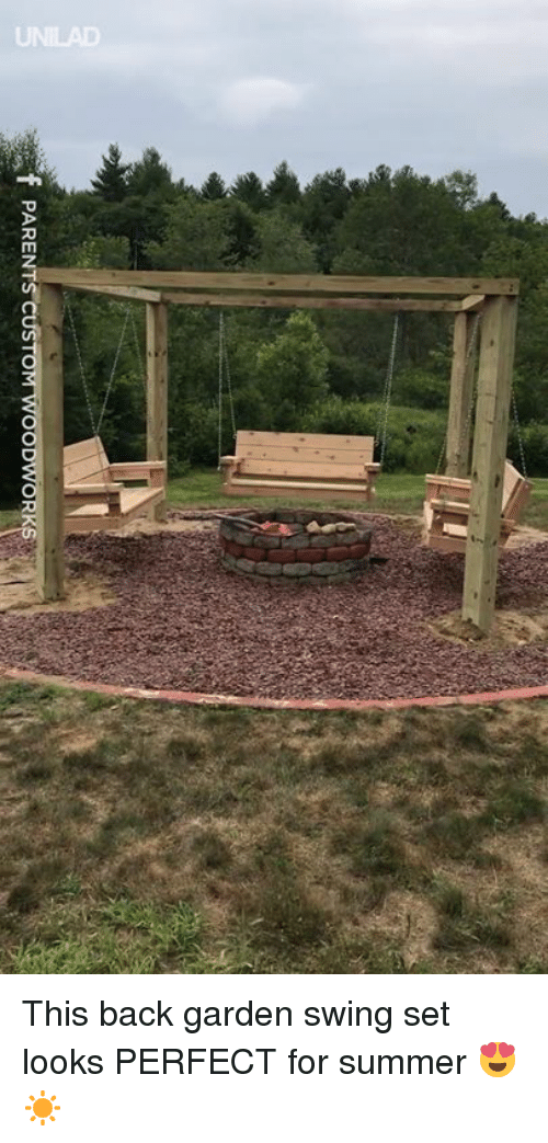 Dank, Summer, and Back: PARENT This back garden swing set looks PERFECT for summer 😍☀️