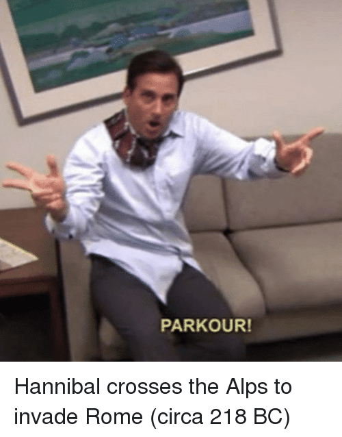 Hannibal: PARKOUR! Hannibal crosses the Alps to invade Rome (circa 218 BC)