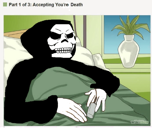 Dank Memes and Accepted: Part 1 of 3: Accepting You're Death