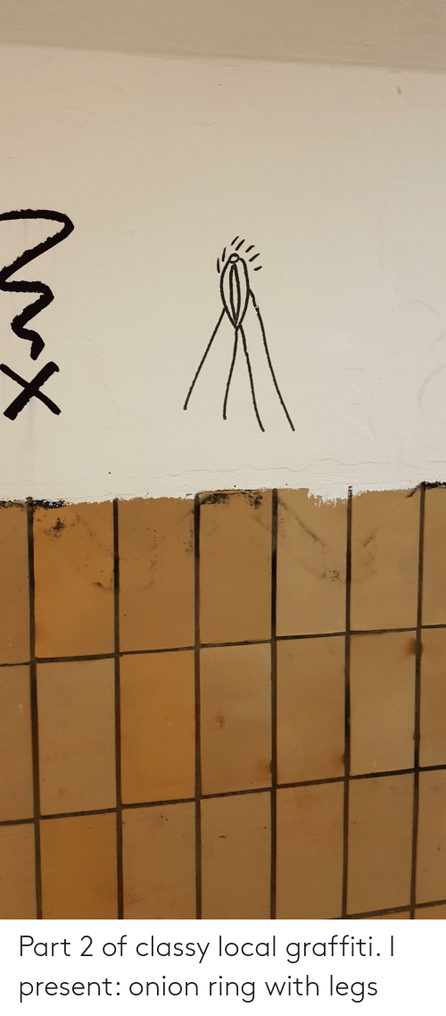 Onion Ring: Part 2 of classy local graffiti. I present: onion ring with legs