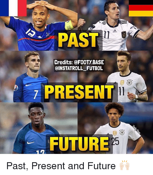 Memes, 🤖, and Futures: PAST  Credits: FOOTY BASE  @INSTATROLL FUTBOL  PRESENT  FUTURE Past, Present and Future 🙌🏻