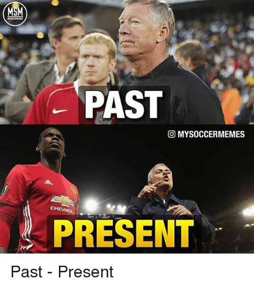 Memes, 🤖, and Present: PAST  O MYSOCCERMEMES  PRESENT Past - Present