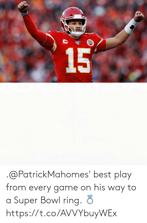 Super Bowl: .@PatrickMahomes' best play from every game on his way to a Super Bowl ring. 💍 https://t.co/AVVYbuyWEx