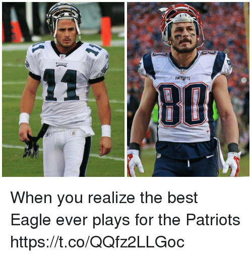 Memes, Patriotic, and Best: PATRPTS When you realize the best Eagle ever plays for the Patriots https://t.co/QQfz2LLGoc