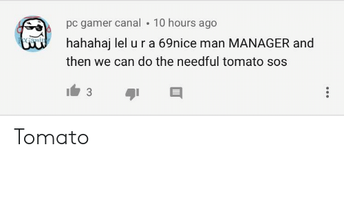 do the needful: pC gamer canal . 10 hours ago  V hahahaj lel u r a 69nice man MANAGER and  then we can do the needful tomato sos Tomato