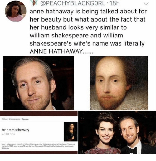 Anne Hathaway And Husband Wedding: 25+ Best Memes About Shakespeare