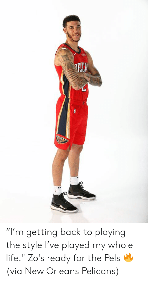 """New Orleans: PECA """"I'm getting back to playing the style I've played my whole life.""""  Zo's ready for the Pels 🔥  (via New Orleans Pelicans)"""