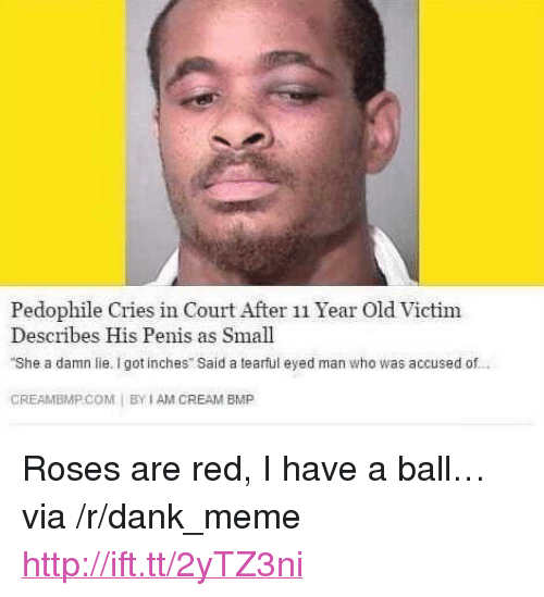 """Creambmp: Pedophile Cries in Court After 11 Year Old Victim  Describes His Penis as Small  She a damn lie. I got inches Said a tearful eyed man who was accused of  CREAMBMP.COM 