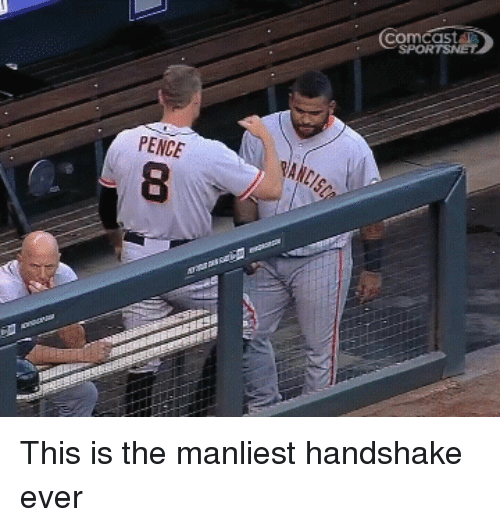 Funny, Comcast, and Pence: PENCE  Comcast This is the manliest handshake ever