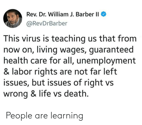Learning: People are learning