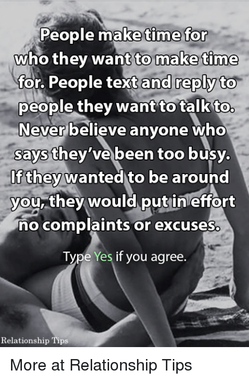 Too busy excuse dating
