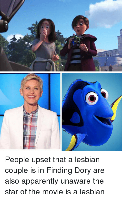 Apparently, Lesbians, and Movies: People upset that a lesbian couple is in Finding Dory are also apparently unaware the star of the movie is a lesbian