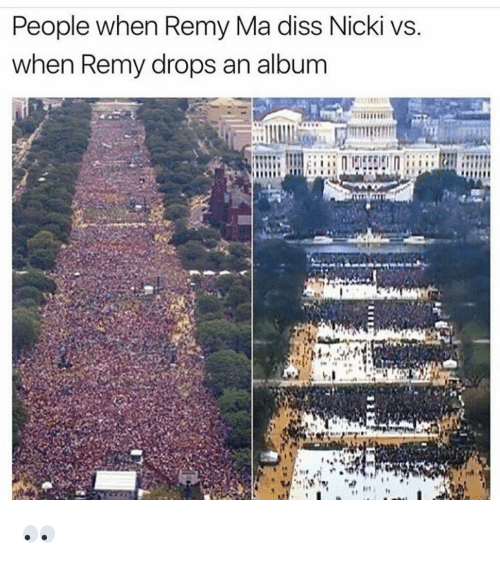 Dissed: People when Remy Ma diss Nicki vs  when Remy drops an album 👀