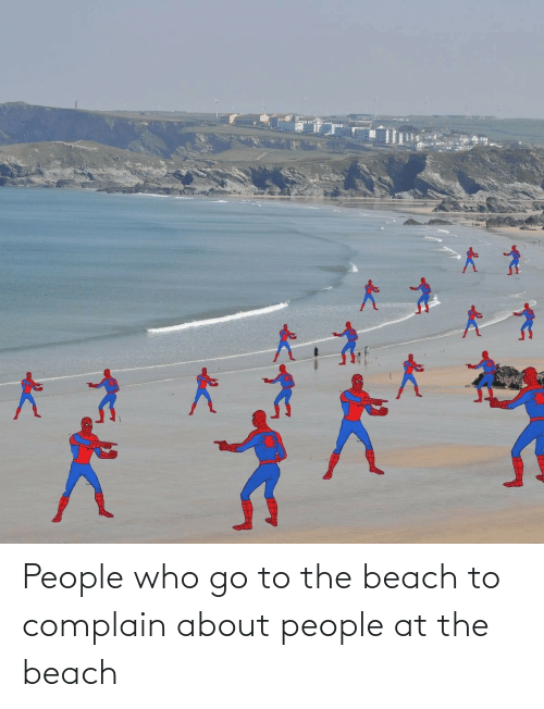 complain: People who go to the beach to complain about people at the beach
