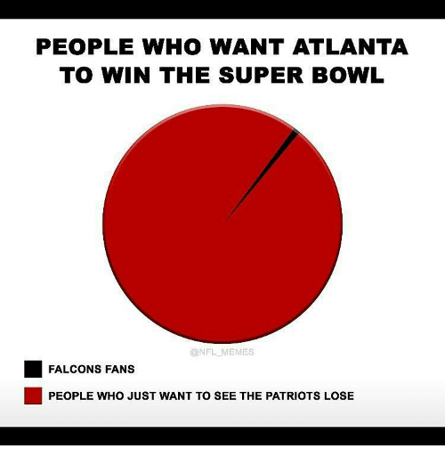 Falcons Fans: PEOPLE WHO WANT ATLANTA  TO WIN THE SUPER BOWL  @NFL MEMES  FALCONS FANS  PEOPLE WHO JUST WANT TO SEE THE PATRIOTS LOSE