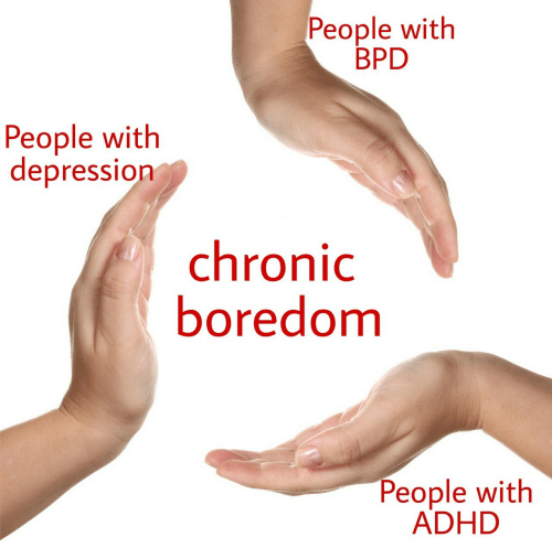 chronic: People with  BPD  People with  depression  chronic  boredomm  People with  ADHD
