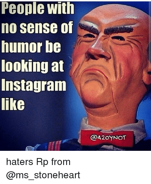 People With No Sense of Humor Be Ooking at Instagram Like