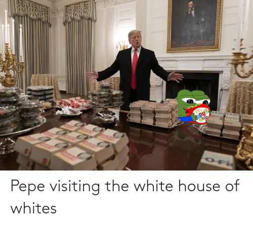 White House: Pepe visiting the white house of whites