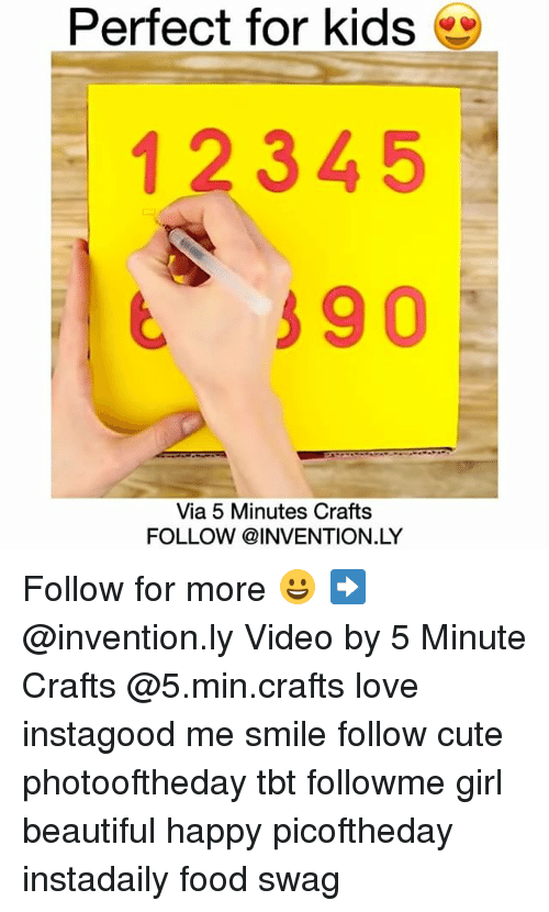Perfect For Kids 1 2 3 4 5 90 Via 5 Minutes Crafts Follow Ly Follow