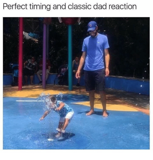 Dad, Dank, and 🤖: Perfect timingand classic dad reaction