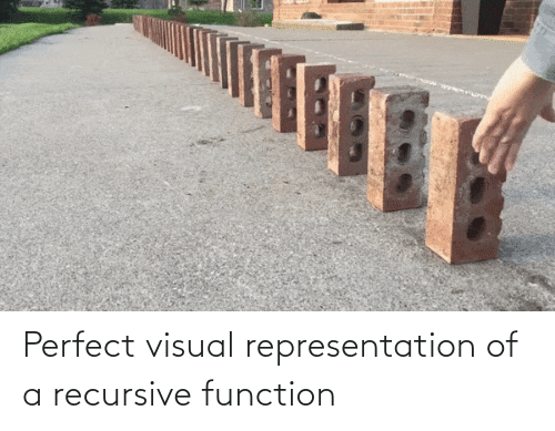 function: Perfect visual representation of a recursive function
