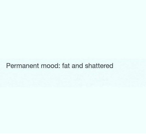 Mood, Relationships, and Fat: Permanent mood: fat and shattered
