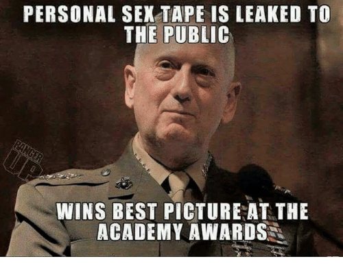 Best Pictures: PERSONAL SEX TAPE IS LEAKED TO  THE PUBLIC  WINS BEST PICTURE AT THE  ACADEMY AWARDS