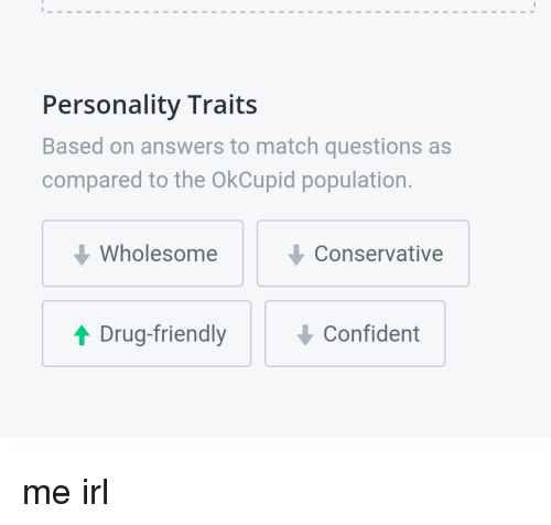 how to change personality traits on okcupid