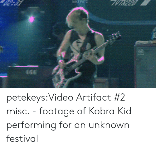 Misc: petekeys:Video Artifact #2 misc. - footage of Kobra Kid performing for an unknown festival