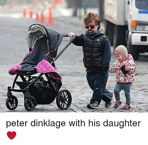 Memes, Peter Dinklage, and 🤖: peter dinklage with his daughter❤
