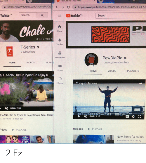 """tabu: PewDiePie- Youl ube  YouTube  https://www.youtube.com/channel/UCq (--) С https://www.youtube.com/channel/UC-HER3Gqxm24Vd JS  