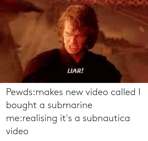 submarine: Pewds:makes new video called I bought a submarine me:realising it's a subnautica video