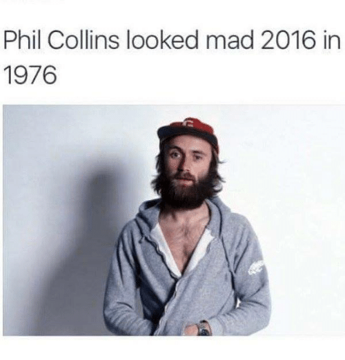 Phil Collins: Phil Collins looked mad 2016 in  1976
