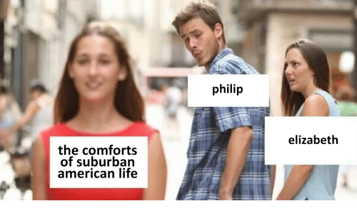 Life, American, and Suburban: philip  elizabeth  the comforts  of suburban  american life