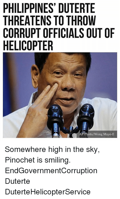 ride in helicopter with Philippines Duterte Threatens To Throw Corrupt Officials Outof Helicopter P 6905955 on El Nido Palawan Travel Guide also Philippines Duterte Threatens To Throw Corrupt Officials Outof Helicopter P 6905955 further Watch moreover Pop Ride Details as well Vanity Pollution And Death On Mt Everest.