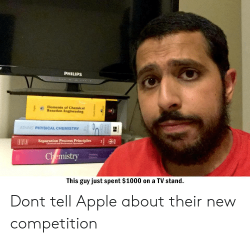 philips: PHILIPS  Elements of Chemical  Reaction Engineering  ATKINS PHYSICAL CHEMISTRY  Separation Process Principles  Chemistry  This guy just spent $1000 on a TV stand  www Dont tell Apple about their new competition