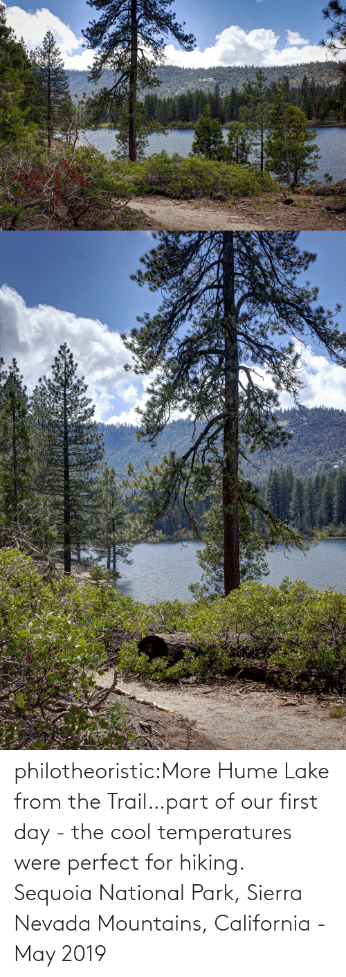 Nevada: philotheoristic:More Hume Lake from the Trail…part of our first day - the cool temperatures were perfect for hiking.  Sequoia National Park, Sierra Nevada Mountains, California - May 2019