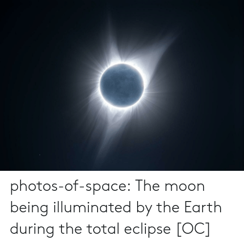 Eclipse: photos-of-space:  The moon being illuminated by the Earth during the total eclipse [OC]