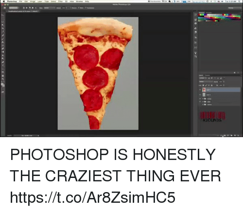 Photoshop, Girl Memes, and Thing: PHOTOSHOP IS HONESTLY THE CRAZIEST THING EVER https://t.co/Ar8ZsimHC5