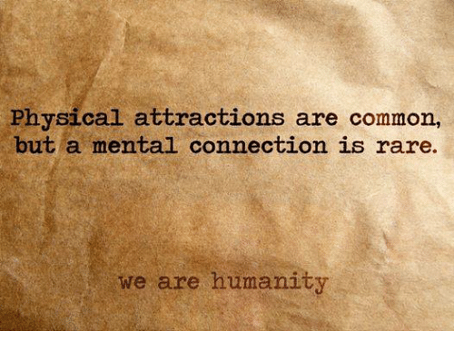 Memes, 🤖, and Commons: Physical attractions are common,  but a mental connection is rare.  we are humanity