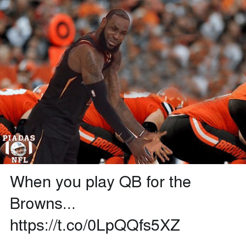 Football, Nfl, and Sports: PIADAS  NFL When you play QB for the Browns... https://t.co/0LpQQfs5XZ