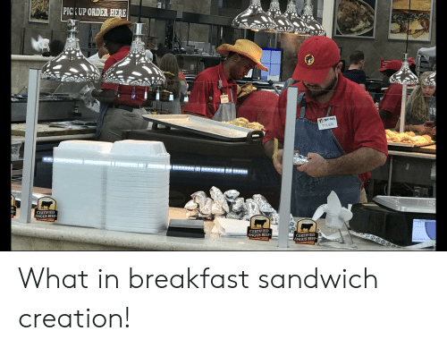 angus beef: PICK UP ORDER HERE  BUC-CE'S  TYLER  gobH  SIMCE  EF  CERTIFIED  ANGUS BEEF  SINCE 19  SNCE 19  CERTIFIED  ANGUS BEEF  CERTIFIED  ANGUS BEEF What in breakfast sandwich creation!