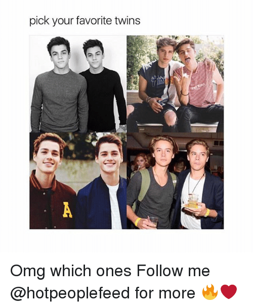 Vours: pick vour favorite twins  IR Omg which ones Follow me @hotpeoplefeed for more 🔥❤️